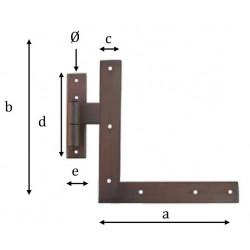 Kovaný rohový pant model 1752