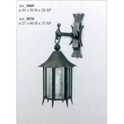 Kovaná lucerna na stěnu model 3069