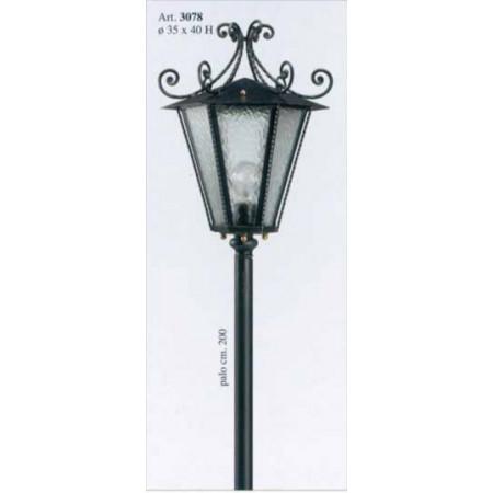 Venkovní kovaná stojací lampa model 3078