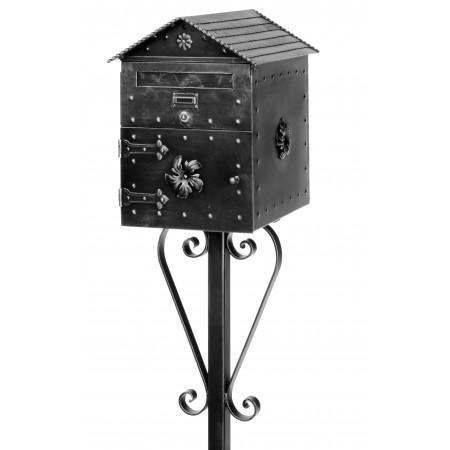 Kovaná poštovní schránka model 1084 samostatně stojící
